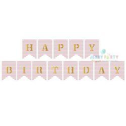 CỜ TRANG TRÍ HAPPY BIRTHDAY ĐUÔI CÁ NHŨ HỒNG SỌC giá sỉ