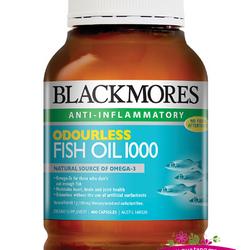 Blackmores Odourless Fish Oil 1000mg 400 Capsules - Dầu cá ngăn ngừa nhồi máu cơ tim và đột quỵ giá sỉ