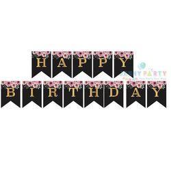 CỜ TRANG TRÍ HAPPY BIRTHDAY ĐUÔI CÁ NHŨ ĐEN giá sỉ