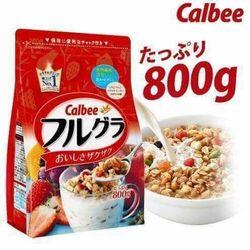 Ngũ cốc sấy khô Calbee hàng Nhật nội địa 800g date t7/2018