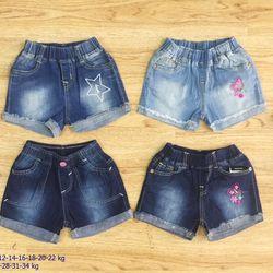 Quần short jeans bé gái s2-12 giá sỉ