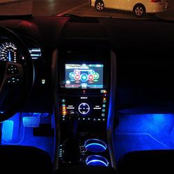 Bộ combo 4 Đèn LED chiếu sáng trang trí gầm ghế chân thắng ô tô xe hơi xe tải màu xanh dương LGX xanh giá sỉ