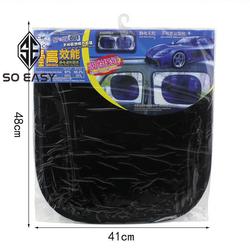 Bộ 02 Màn tấm miếng che nắng phim cách nhiệt dán trực tiếp kính bên kính trước dành cho xe hơi xe ô tô xe tải TCN06 đen giá sỉ