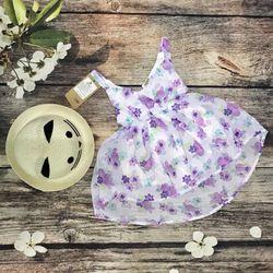 Hàng có sẵn Đầm maxi voan hoa cho bé