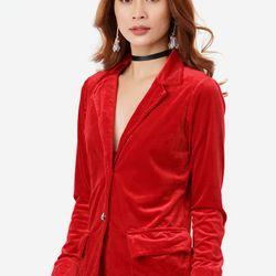Áo Khoác Nhung Giả Vest - Đỏ - CIRINO giá sỉ