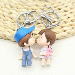 Móc khóa tình nhân yêu nhau nón xanh giá sỉ