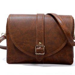Túi đeo chéo CNT cá tính TĐX26 BÒ ĐẬM giá sỉ