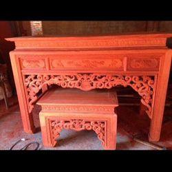Tìm đại lý lấy sỉ bàn thờ án án gian gỗ hương đỏ giá sỉ