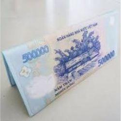 ví cầm tay nữ hình tiền 500k giá sỉ