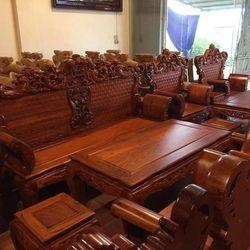 Bộ Bàn Ghế Hoàng Gia gỗ hương vân giá sỉ