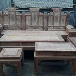 Bộ bàn ghế phòng khách kiểu âu á hộp gỗ mun đuôi công giá sỉ