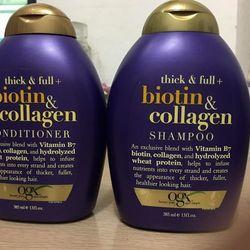 Cặp Dầu gội xả Biotin Collagen Mỹ 385ml