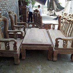 Bộ Bàn Ghế phòng khách kiểu Chim Đào Gỗ Hương Vân giá sỉ