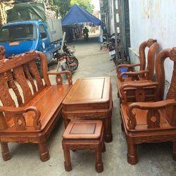Bộ bàn ghế phòng khách minh quốc triện gỗ hương vân giá sỉ