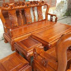 Bộ bàn ghế phòng khách kiểu hồng tàu gỗ hương vân giá sỉ