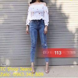 Quần Jeans Nữ MS 113 giá sỉ
