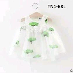 Đầm họa tiết cây xanh voan TN1-6XL giá sỉ