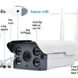 Camera Yoosee Camera thân ngoài trời chống nước 2 anten hồng ngoại IP 10Megapixels giá sỉ