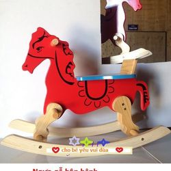 Ngựa gỗ bập bênh-TC3T-12 giá sỉ