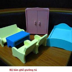 Bộ bàn ghế giường tủ-GD2T-07 giá sỉ