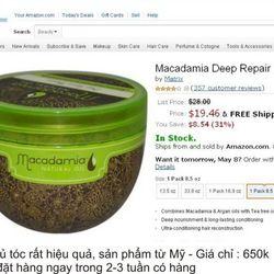 Kem ủ tóc Macadamia 500mlsỉ 65k giá sỉ