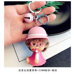 Monchichi bé váy hồng giá sỉ