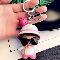 Monchichi áo hồng nón tròn chuông mini giá sỉ