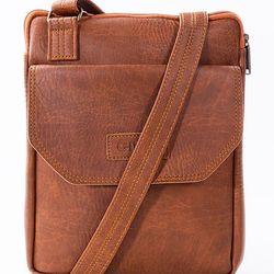 Túi đeo chéo Unisex Ipad 06 Da Bò Đậm giá sỉ