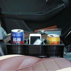 Khay kệ để thức uống đa năng 3 trong 1 nhét khe ghế lái hoặc ghế phụ cho ô tô xe hơi xe tải INS05 Đen giá sỉ