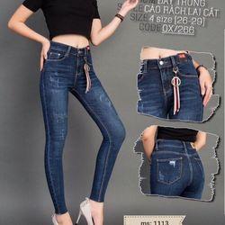 Quần jean nữ thời trang phong cách - 1113 giá sỉ