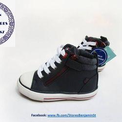 Giày trẻ em hiệu Obaibi Okaidi xuất Đức - cổ cao xanh navy giá sỉ