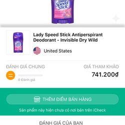 Lăn khử mùi Lady Speed Stick USA giá sỉ
