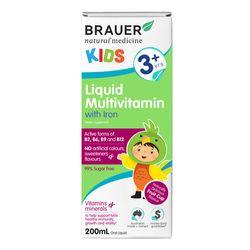 Siro bổ sung vitamin tổng hợp và sắt Brauer Úc cho trẻ trên 3 tuổi 200ml giá sỉ