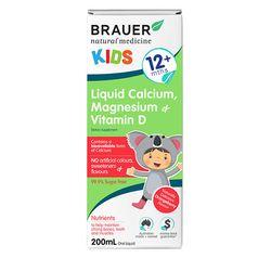 Siro bổ sung canxi magie vitamin D Brauer Úc cho trẻ trên 12 tháng tuổi 200ml giá sỉ