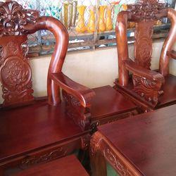 Bộ ghế tràm mặt Hồng đào tay 10 giá sỉ