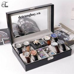 hộp đựng đồng hồ và trang sức nỉ nhung giá sỉ