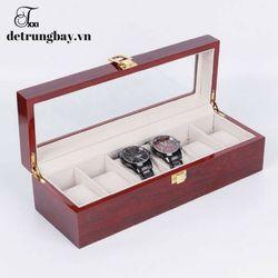 hộp đựng đồng hồ bằng gỗ 6 ngăn giá sỉ