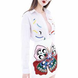 Set áo họa tiết chân váy bướm xinh giá sỉ