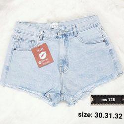 Quần short jean nữ 128 giá sỉ
