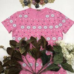 áo thun in nữ họa tiết hoa 123 giá sỉ