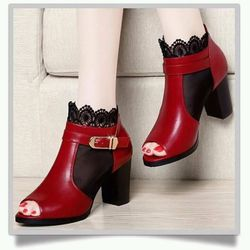 giày cao gót ren cổ giá sỉ