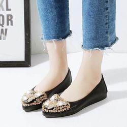 giày búp bê đính đá hình bướm giá sỉ