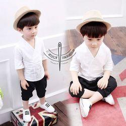 Bán buôn bỏ sỉ Set áo quần Yukata cho bé trẻ em giá rẻ nhất chất vải đũi