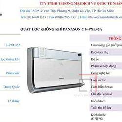 Máy lọc không khí F-PXL45A giá sỉ, giá bán buôn