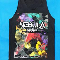 Áo thun 3 lỗ in 3D Thái Lan chữ Nebula trên nền tô màu lem nhem TKT0016 giá sỉ