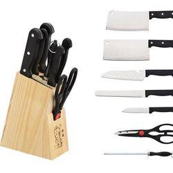 Bộ dao kéo 7 món thép không gỉ giá sỉ