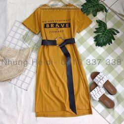 Đầm maxi thun kèm belt Form suông giá sỉ