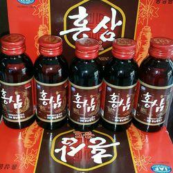 Hộp 10 chai nước hồng sâm cahi nhỏ 100 ml giá sỉ