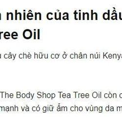 Tinh dầu trị mụn hiệu quả Tea Tree Oil 10ml giá sỉ, giá bán buôn