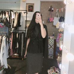Set đầm body sọc nhuyễn áo khoác vest giá sỉ
